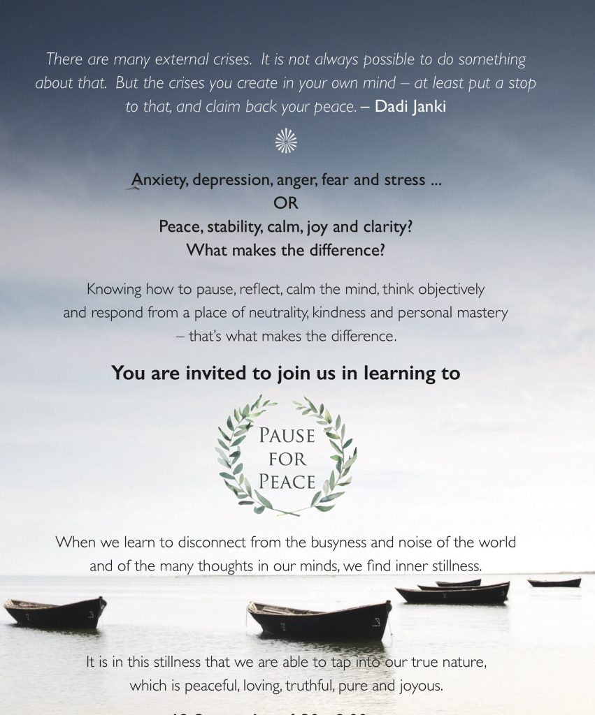 The National Launch of Pause for Peace